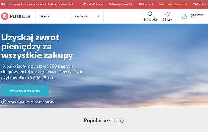 Refunder.pl - zwrot za zakupy w internecie